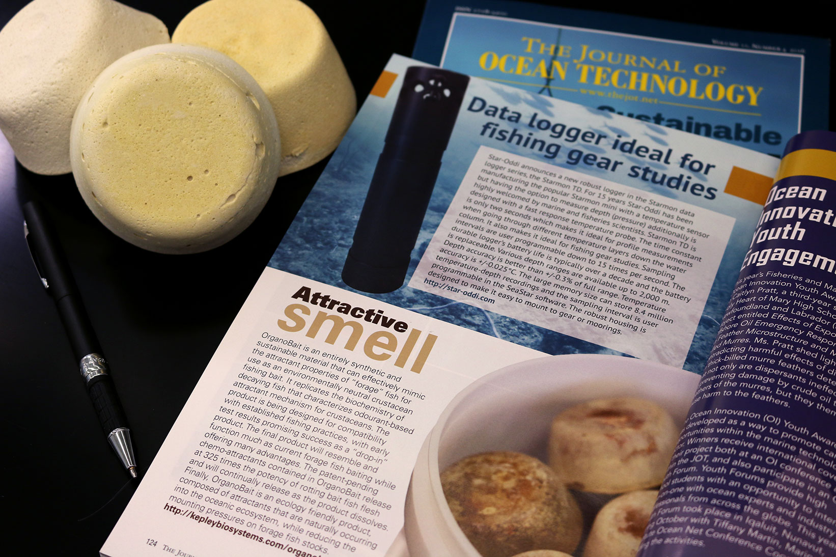Photo of Journal of Ocean Technology OrganoBait article
